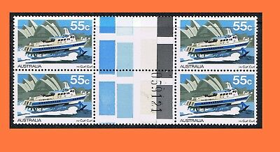1979 Ferries & Steamers 55c H.V. Curl Curl Gutter Block of 4 with Plate No MNH