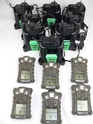 x 6 Six MSA Altair 4x Personal Gas Monitors Plus x 8 Eight Chargers. Altair4x