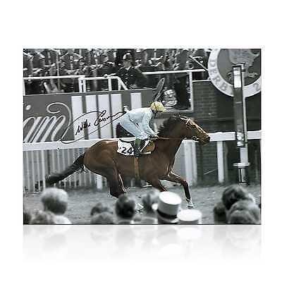 Willie Carson Signed Troy Photo Memorabilia Collectables