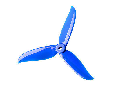 4 x DAL Cyclone Tri-blade 5045 'Unbreakable' Propellers CW/CCW (Blue) DALProp
