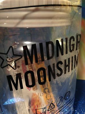 Midnight Moonshine Plastic Jar With Lid, New In Wrapper, 2016 Hardees Promotion