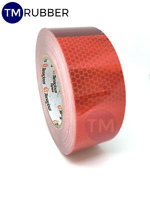 Oralite Red Engineer Prismatic Grade Adhesive Reflective Tape STRIP 50mmx200mm