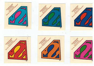 SUPERMAN 1995 Skybox Lois & Clark Temporary Tattoos Set OF 6