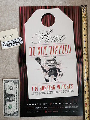 "Warren the 13th and the All-Seeing Eye 10"" x 18"" Poster Quirk Hunting Witches VG"