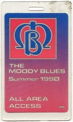 Moody Blues authentic 1990 concert tour Laminated Backstage Pass ALL ACCESS