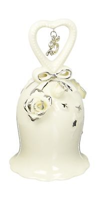 Appletree Design 25th Anniversary Ivory Rose Bell 5-Inch Tall Includes... NO TAX