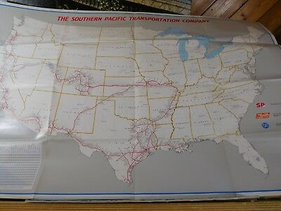 Map Southern Pacific Transportation Company Map No Date 25x38
