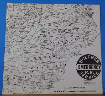 Map Hulcher Emergency Railroad Service Map No Date 17x16