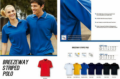 Men's Sports Casual Polo with Honey Comb Panels accross Shoulders and Under Arms
