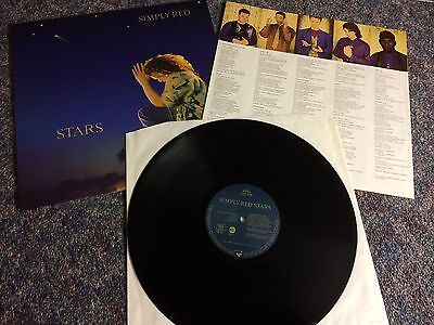 Simply Red Stars Lp Vinyl Record Uk Original Inner Sleeve From Collection
