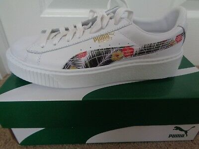Puma Basket Platform Aloha JR trainers sneakers 364729 01 uk 5 eu 38 us 6 C NEW