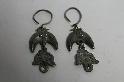 Antique Vintage Earrings Woman  Balkan Ottoman Silver