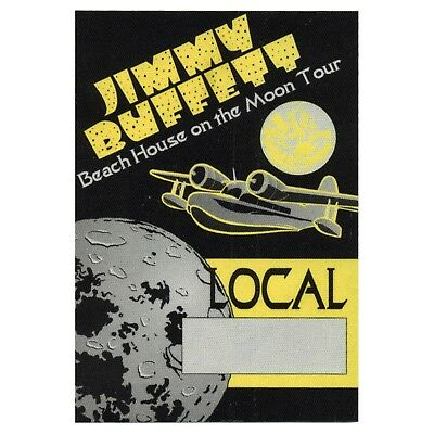 Jimmy Buffett authentic Local 1999 tour Backstage Pass