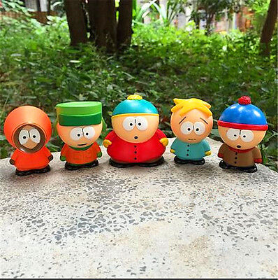 5pcs / set South Park Kyle Butters Stan Cartman Kenny Figures Toy funny