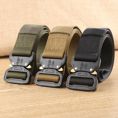 Cool Men Outdoor Hiking Sports Waistband Army Military Nylon Buckle Fashion Belt