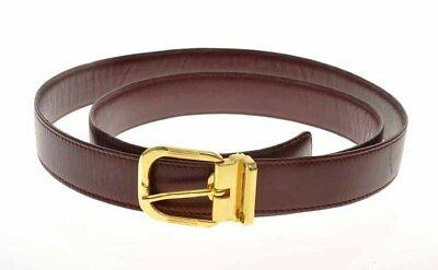 Vintage Nazareno Gabrielli unisex burgundy leather belt 29mm high new old stock