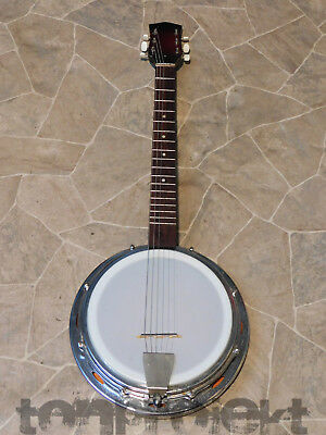 vintage Guitar Banjo 6string Banjitar Guitar Resonator Banjo MiJ Japan 1970`