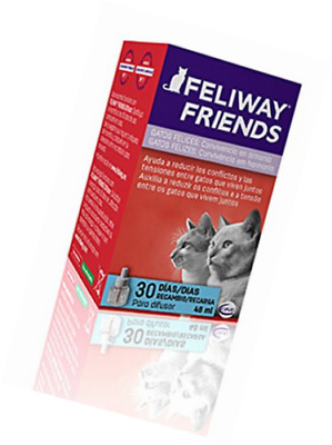 Feliway - Feliway Friends Recambio - 48 ml, Producto completamente natural