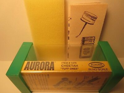 1475 Cheetah Tuff Ones Slot Car Label Aurora T-Jet For Green End Cap