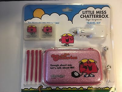 Nintendo 3DS DSi DS Lite Little Miss Travel Pack inc Case Stylus Charger NEW