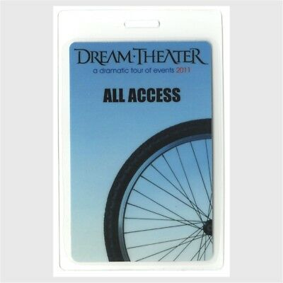 Dream Theater authentic 2011 concert Laminated Backstage Pass Dramatic Tour AA