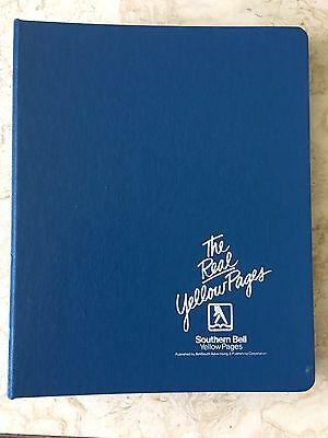 2-Vintage BellSouth Telephone Book Southern Bell Yellow Pages Hard Cover Binder