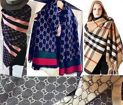 Women Cashmere Scarf Ladies Wool Cape Winter Wrap Poncho Shawl Stole Blanket UK