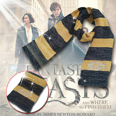 Fantastic Beasts Newt Scamander Hufflepuff House Scarf Cosplay Harry Potter