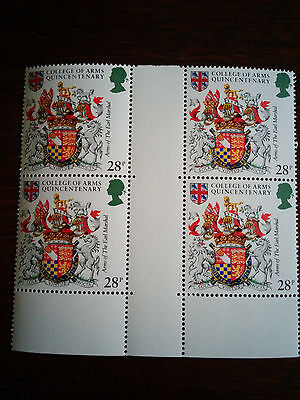 GB Mint & unmounted Arms of the Earl Marshal of England block of 4 stamps (1984)