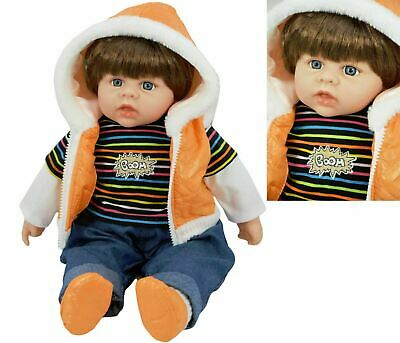 20 Inch Large Soft Bodied Baby Boy Doll Realistic Lifelike Toddler Toy With Hair