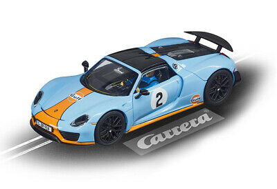 "Carrera 27549 - Evolution PORSCHE 918 SPYDER ""GULF RACING NO.02"" Auto NEU"