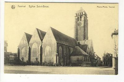 AK Tournai, Eglise Saint-Brice, 1910