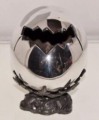 A Very Unusual Silver Plated Egg Shaped Spoon Warmer by Philip Ashberry c.1880