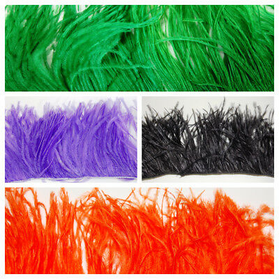 OSTRICH FEATHER FRINGE 18 Colors to Choose, Many Lengths; Trim/Halloween/Costume