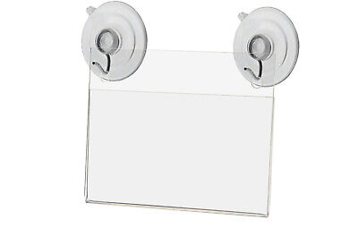 """3.5""""W x 2""""H Window Mount Small Signage Holder with 2 Suction Cups Lot of 24"""