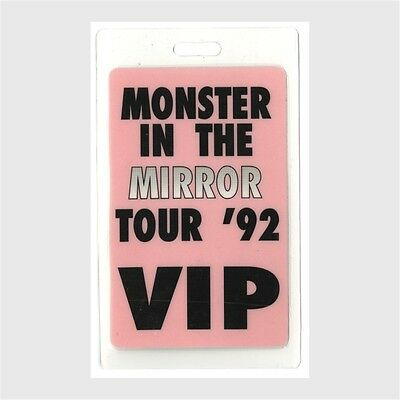 David Byrne authentic 1992 concert Laminated Backstage Pass Monster Mirror Tour