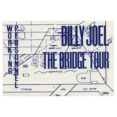 Billy Joel authentic Working 1986 tour Backstage Pass