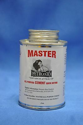 Petronio's Master All Purpose Contact Cement, Shoe Repair Adhesive, Glue- 4 OZ.