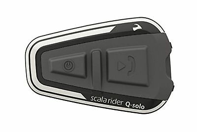 scala rider Q-solo Bluetooth Motorcycle Headset The Essential Communic... NO TAX