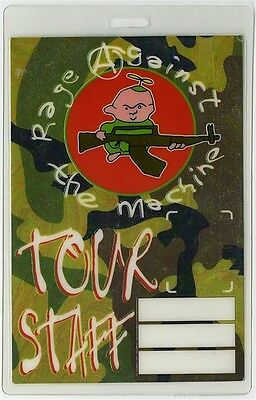 Rage Against the Machine authentic 1994 concert tour Laminated Backstage Pass