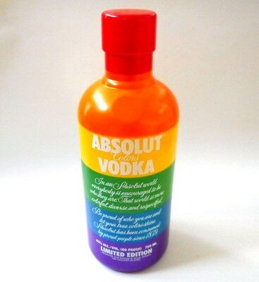 Absolut Vodka Colors Rainbow 1 Lt Bar BOTTLE DISPLAY COVER Case Gay Pride Rare