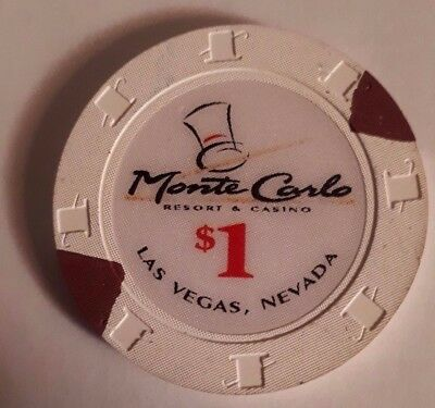 Monte Carlo Resort And Casino - $1 One Dollar Gaming Chip