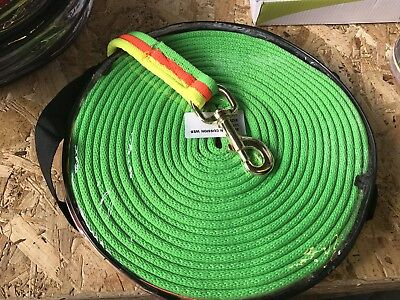 Lunge Line, Training Aid, 8 Meters Soft And Strong-green, Yellow, Orange