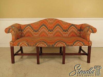 41044: ELDRED WHEELER Custom Made Cherry Camelback Period Style Sofa