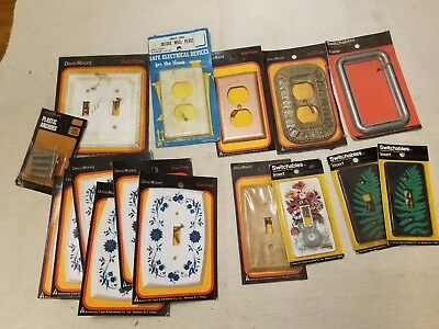 "Vintage ""Deco Room"" Light & Outlet Switch Plate Covers Assorted Styles Lot of 15"