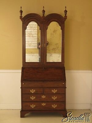 L28470E: BAKER George III Walnut Secretary Desk w. Bookcase Top