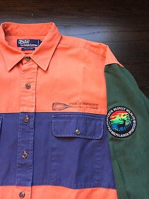 ralph lauren polo Snow Beach Pwing 1992 1993 USA Size Large