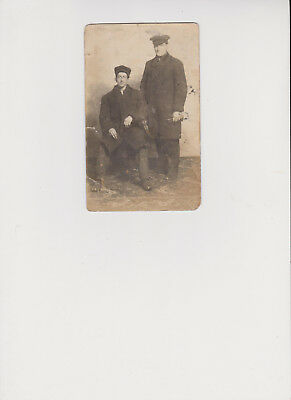 Post Card Card Photo 2 Young Men