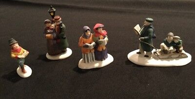 Lot Of 4 Dept.56 Carolers. No Boxes