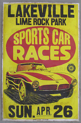 1950's BMW 507 Lime Rock Connecticut Race Vintage Advertising Poster 11 x 17